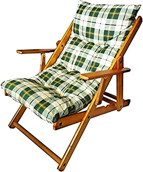 Sedie A Sdraio In Legno Imbottite.Sedia Sdraio Harmony Relax In Legno Pieghevole Cuscino Imbottito