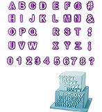 40pcs DIY Letter Number Cake Mould Fondant Sugarcraft Cookie Plunger Cutter Mold Decorating Tools