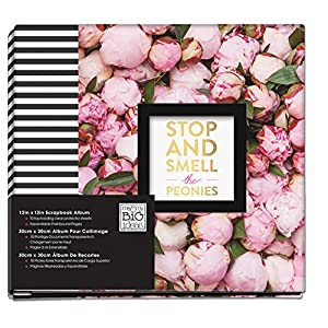 me & my BIG ideas Smell The Peonies Album, 12-Inch by 12-Inch