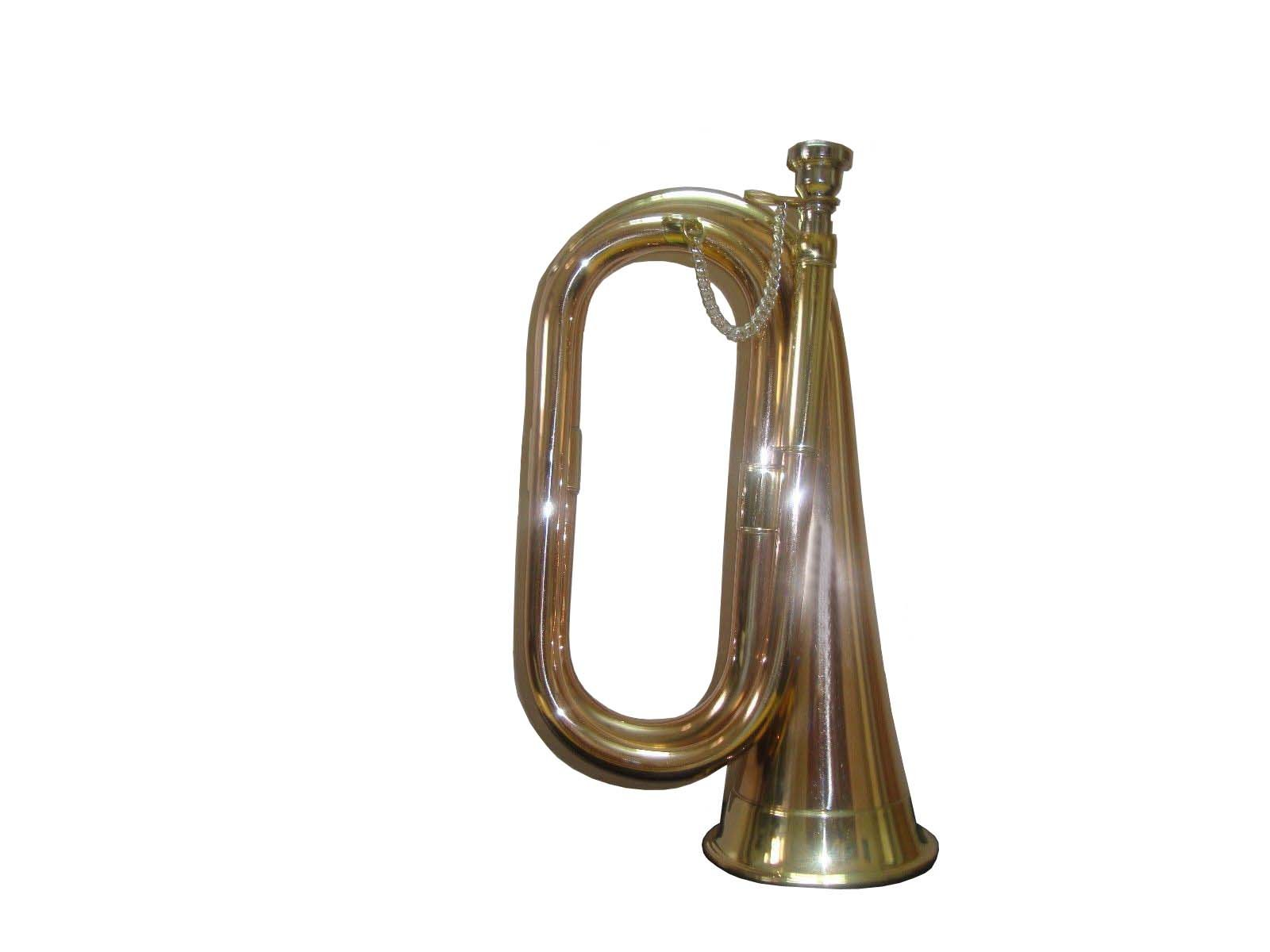 TOP GRADE QUALITY CAVALRY BUGLE CIVIL WAR WITH COPPER AND BRASS FINISH EXCELLENT MUSICAL INSTRUMENT shry013