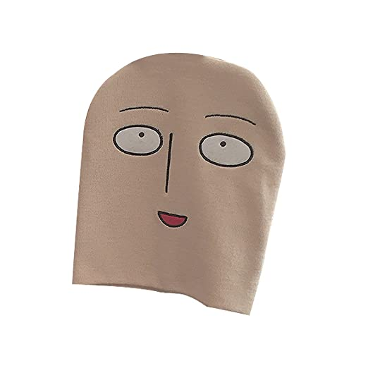d4d69e39f30 Image Unavailable. Image not available for. Color  ACVIP Unisex Adults  Fancy One Punch-Man Japanese Comic Beanie Hat Beige