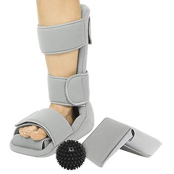 fd3896dc26 Vive Plantar Fasciitis Night Splint + Trigger Point Spike Ball - Soft Leg  Brace Support -