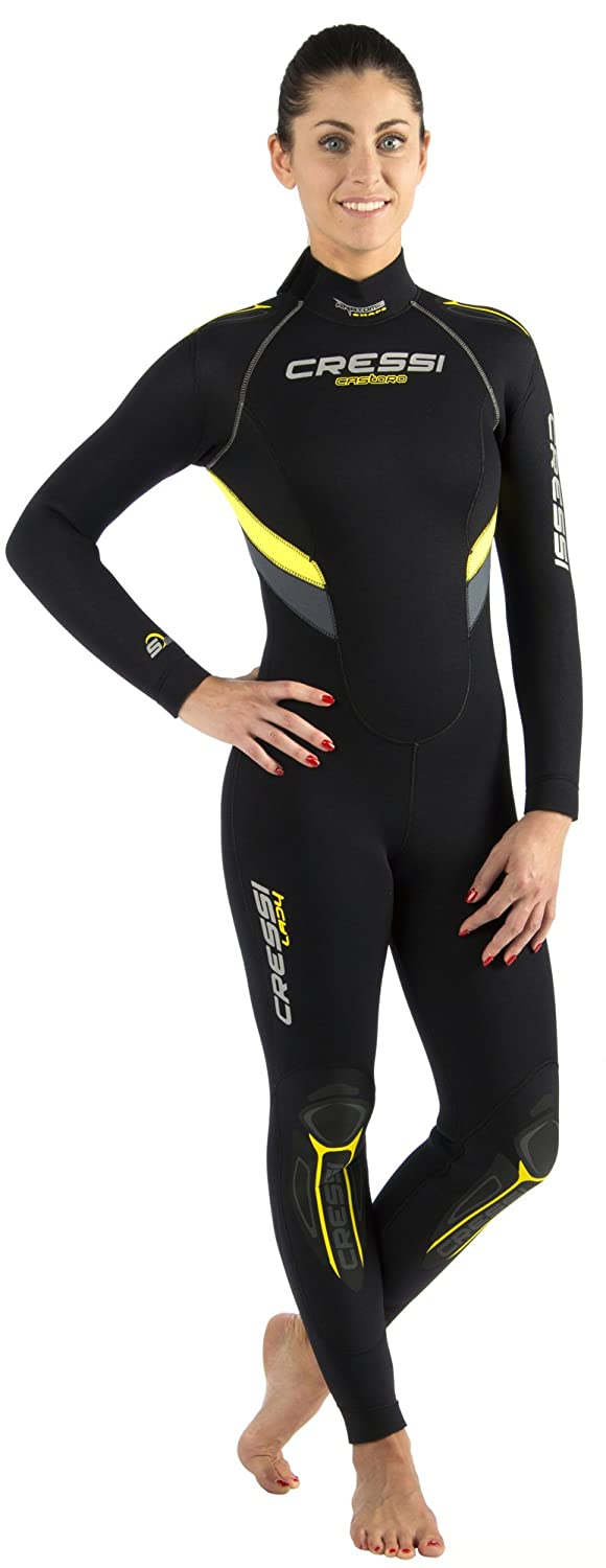 Ladies Full Wetsuit 5mm/7mm Durable Nylon II Neoprene for Scuba Diving | CASTORO LADY by Cressi: quality since 1946