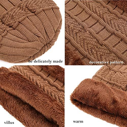 maglia caldo il per Men and invernale a Choker grigio Winter Beanie Scarf Acme wS1BqB