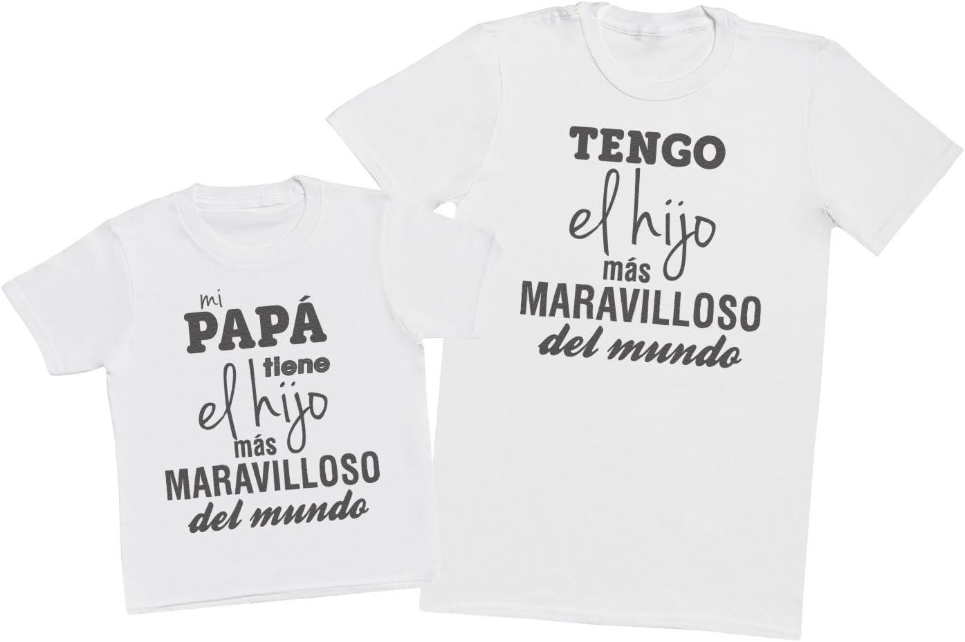 Regalo para Padres y beb/és en un Cuerpo para beb/és y una Camiseta de Hombre a Juego Zarlivia Clothing Tranquilos mi Pap/á es Ironman