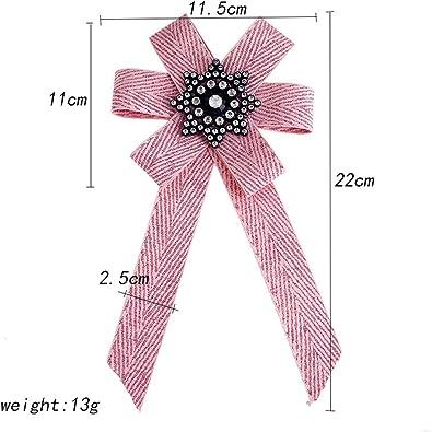 BESTOYARD Bow Brooches Pins Tela de Lona Bowknot Tie Corbata ...