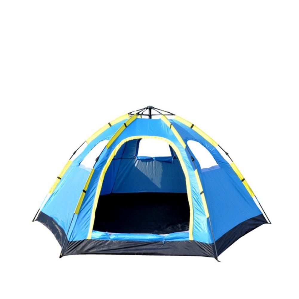 Campingzelt 5-8 Personen Automatische Hexagon Single Layer Schnell Sofortige Offene Wasserdichte Outdoor Zelte