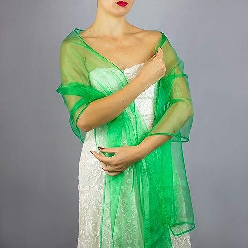 Chal para vestido de fiesta verde