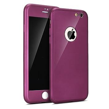 ETSUE Funda para iPhone 6/6S Carcasa Funda Caso 360 Grados Full Body protección Completa Cover + Vidrio templado Ultra Delgado Doble Delantera TPU ...