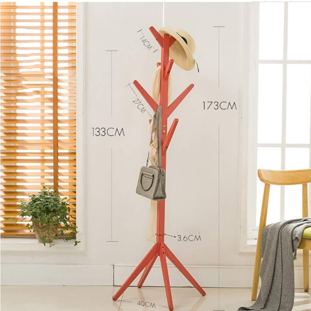 8 Ganchos y pies s/ólidos para la Ropa Bufandas y Sombreros Color : Brown Multifuncional JIAYING Percheros Soporte de Madera en Forma de /árbol con Forma de /árbol de bamb/ú con 4 gradas
