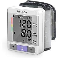 Handgelenk-Blutdruckmessgerät, HYLOGY Digitales Blutdruckmessgerät für den Heimgebrauch mit Puls-und Herzfrequenzmessung, 2 Benutzermodus für Gesundheitsüber wachung mit Kapazität für 180 Erinnerungen