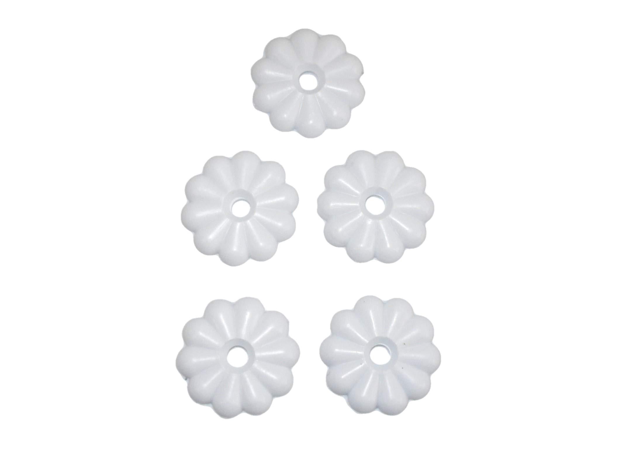 5 White Ceiling Floret Medallion Screw Washer Cover Rosettes Mobile Home RV