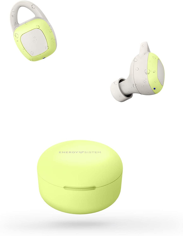 Energy Sistem Auriculares inalámbricos Sport 6 True Wreless (Auriculares intrauditivos, Bluetooth, Sistema de sujeción Flexible, Control de reproducción y batería Recargable) - Lima