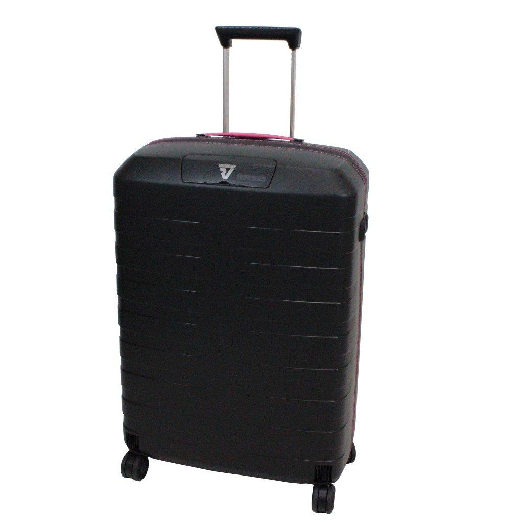 [ロンカート] RONCATO BOX イタリア製 超軽量スーツケース 64cm 67L 2.9kg 耐水ファスナー 双輪キャスター[5512] B01CZI59QO ブラック/ピンク ブラック/ピンク
