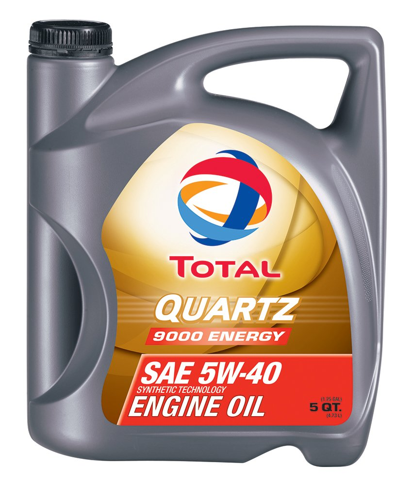 TOTAL 184952-3PK Quartz 9000 Energy 5W-40 Engine Oil - 5 Quart (Pack of 3) by Total
