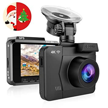 167dbac8e5f 4K Dash Cam - 2160P Ultra HD Car Camera DVR Built-in  Amazon.co.uk ...