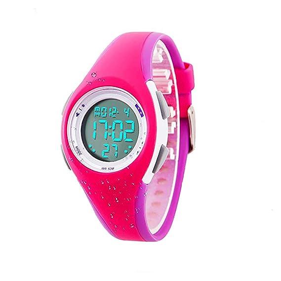 Reloj Digital para niños y niñas, Resistente al Agua al Aire Libre, con Alarma, Edad 11 – 15 7 – 10 LED, Reloj de Pulsera de Regalo para Adolescentes, ...