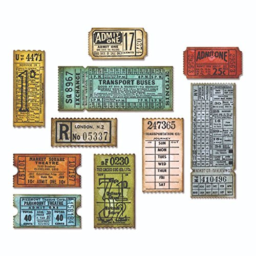 Sizzix, Multi Color, Thinlits Die Set 662698, Ticket Booth by Tim Holtz, 6 Pack, One Size