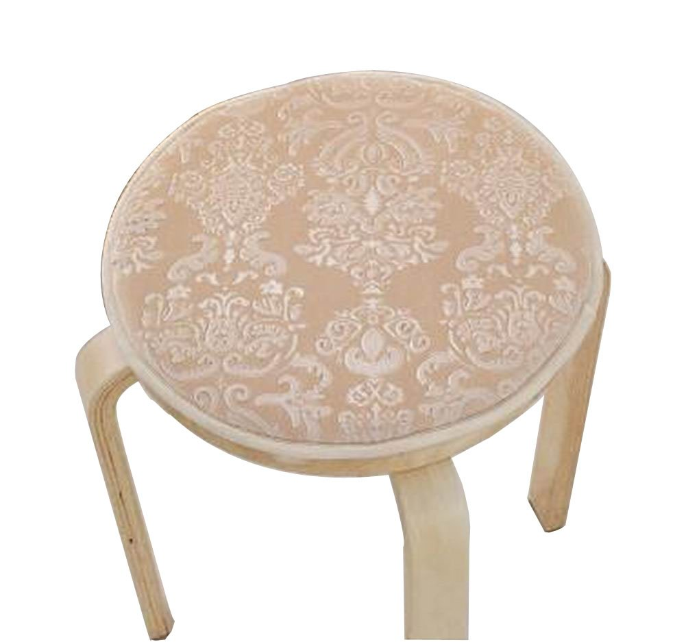 Blancho [Beige] Velvet Round Stool Cover Stool Cushion Bar Stool Mat Seat Pad Blancho Bedding