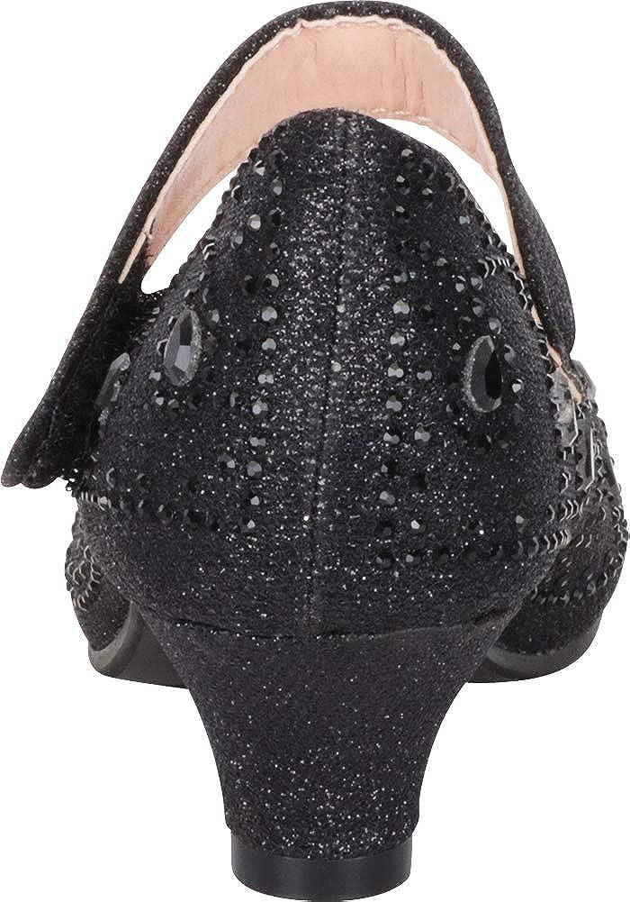 Toddler//Little Kid//Big Kid Cambridge Select Girls Mary Jane Low Heel Glitter Crystal Rhinestone Pump