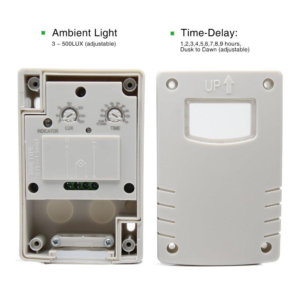 Sensky célula fotoeléctrica o infrarrojos Sensor de movimiento interruptor para LED luz al aire libre, 220.00 voltsV: Amazon.es: Bricolaje y herramientas
