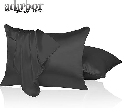 Amazon Com Adubor Luxury Silky Pillowcases With Hidden Zipper