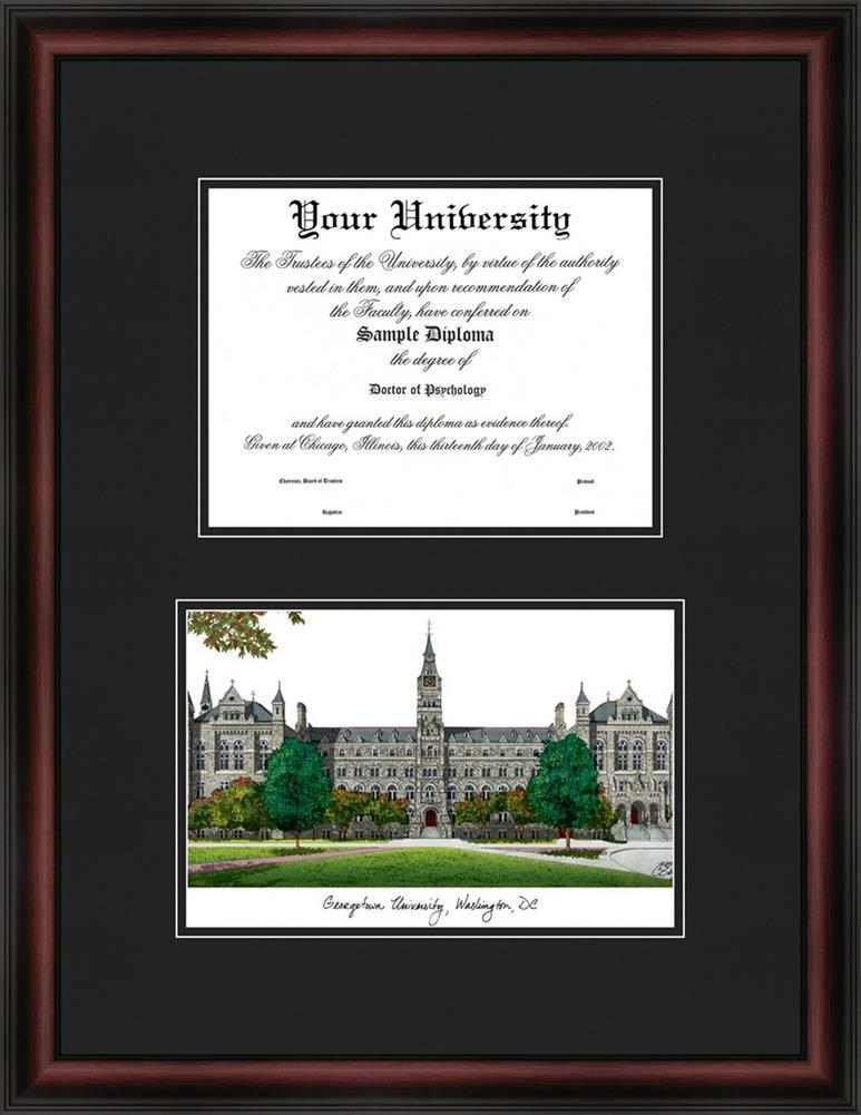 Amazon.com : Georgetown University Hoyas Diploma Frame & Lithograph ...