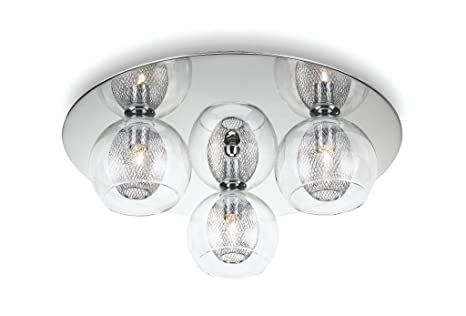 Philips Plafón 3823311E0 Lámpara de techo G9, 28 W, Gris 3 ...