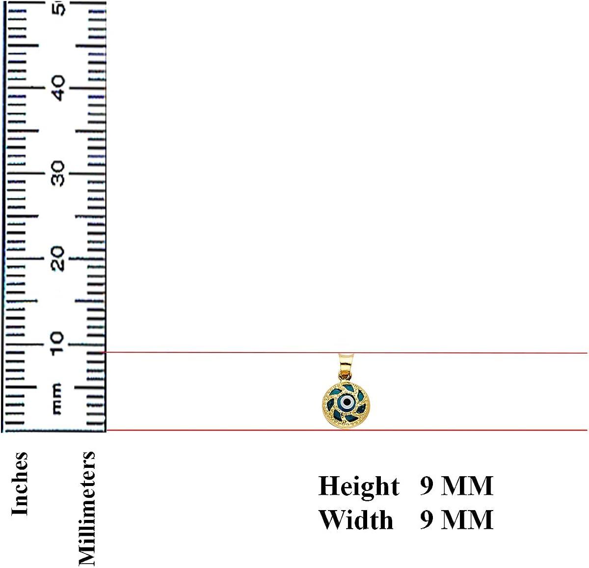 """14KY /""""Teamo/"""" Couple Coeur Brisé Pendentif hauteur 20 mm 20 mm largeur"""