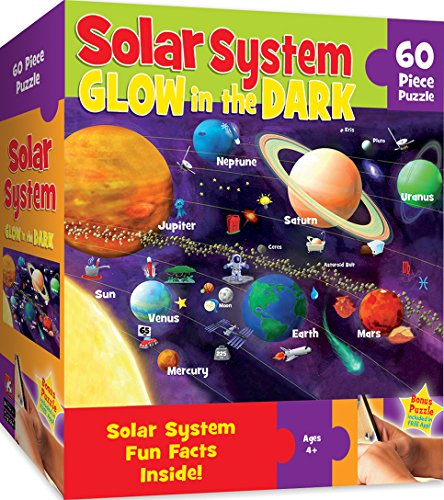 - MasterPieces Explorer Kids -  Solar System - Glow in the Dark - 60 Piece Kids Puzzle