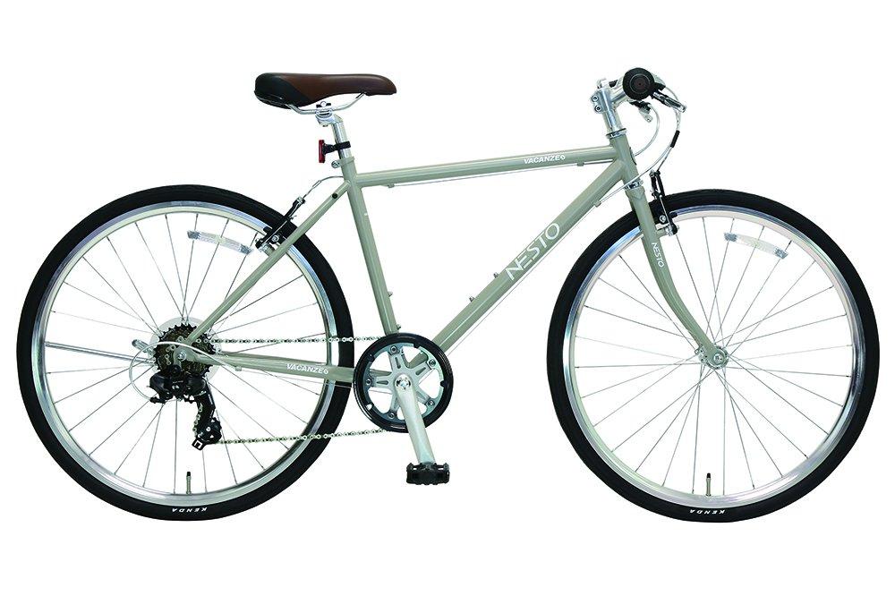 NESTO(ネスト) 街乗り用シンプルクロスバイク バカンゼS 外装7段 430mm マットグレー NE-17-006 B01MS176LS