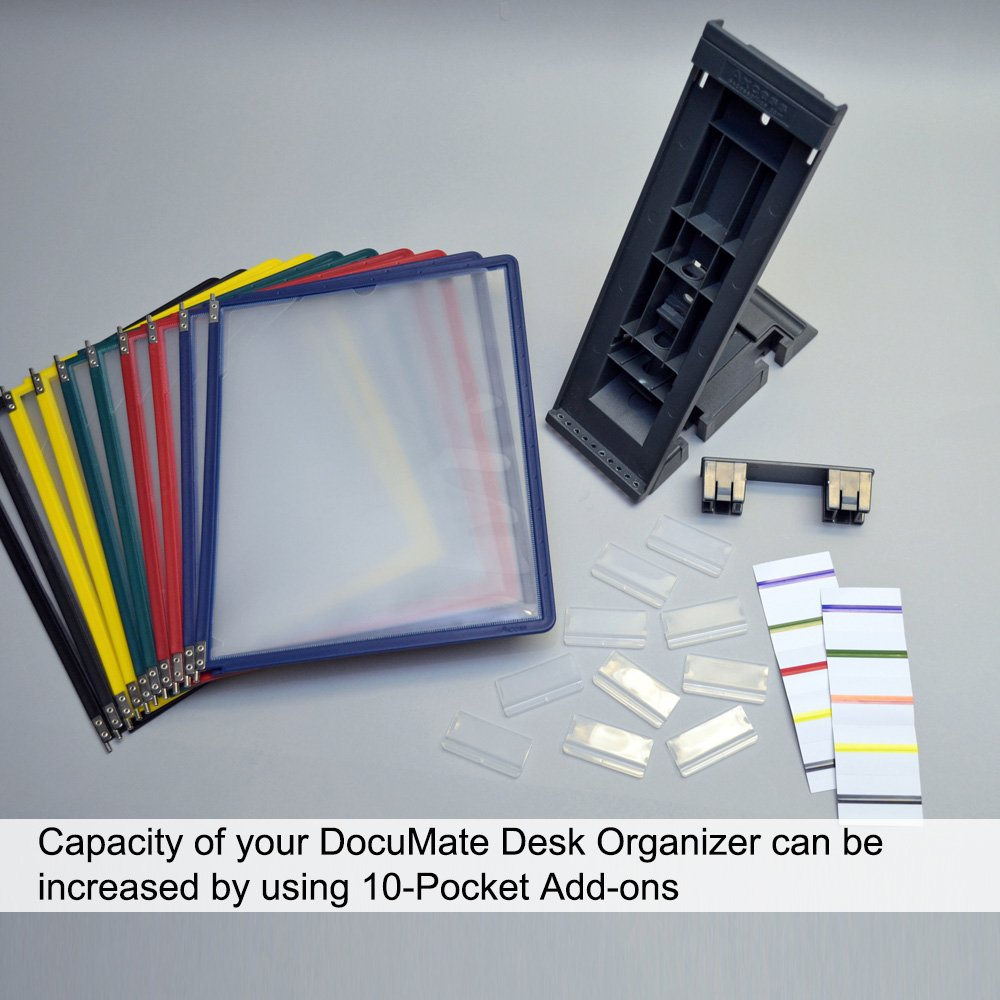 Ultimate Office Documate 10 Pocket Desk Reference Organizer With
