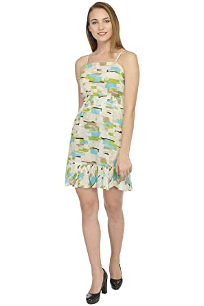 fd84c9c8037f YoO Fashions Cotton Printed Short Dress for Women/Girls: Amazon.in: Clothing  & Accessories