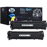 Cool Toner compatible Toner Cartridge per CF210X per HP LaserJet Pro 200 color M251n M251nw,MFP M276n M276nw, 2400 pagine,Nero,Confezione da 2 pezzi