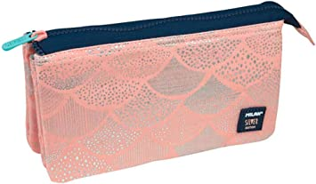 Portatodo Milan Silver Pink con 5 Compartimentos: Amazon.es: Oficina y papelería