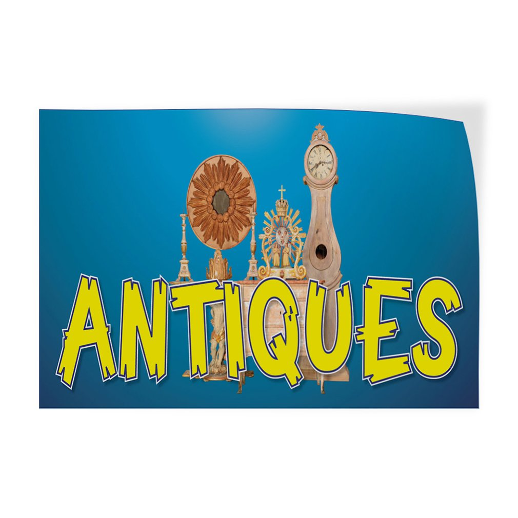52inx34in Set of 2 Decal Sticker Multiple Sizes Antiques #8 Vintage Old Clock Outdoor Store Sign Aqua-Blue