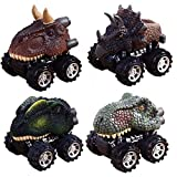 Toys : Pull Back Dinosaur Cars, Pawaca 4-Pack Dino Cars Toys with Big Tire Wheel for 3-14 Year Old Boys Girls Creative Gifts for Kids