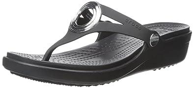 Sanrah Beveled Circle Wedge Flip Crocs p7CkQ7