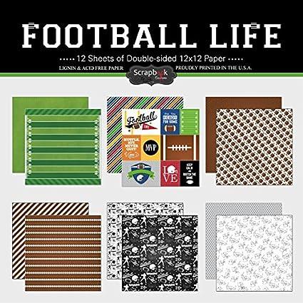Amazon Scrapbook Customs Themed Paper Scrapbook Kit Football Life
