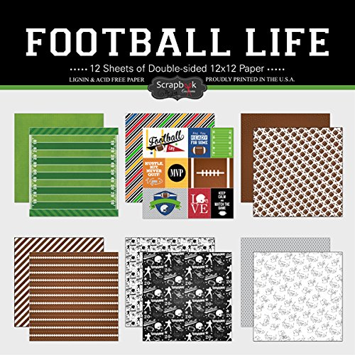 Scrapbook Customs Themed Paper Scrapbook Kit, Football Life