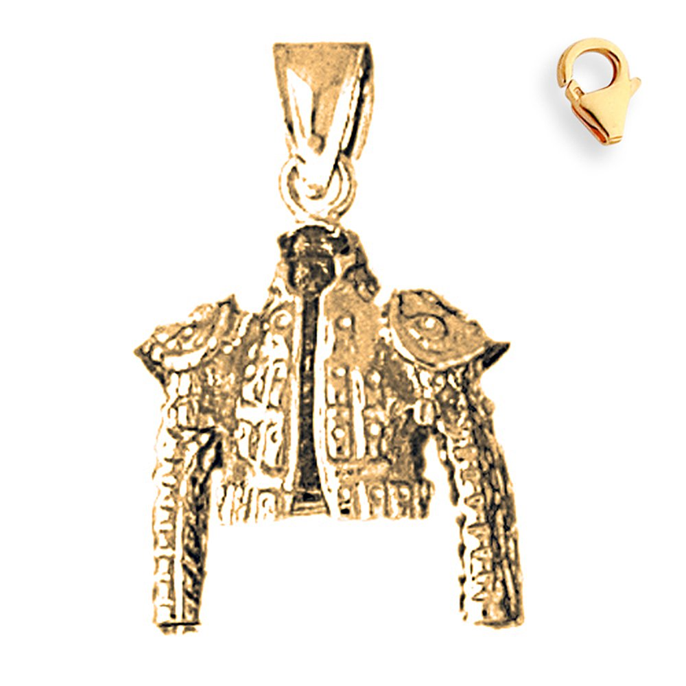 Gold-Plated 925 Silver 26mm Matador Jacket 8.25'' Charm Bracelet by JewelsObsession