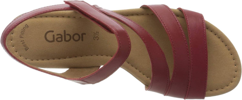 Gabor Gabor Casual dames sandalen met riempjes Rood robijn 25