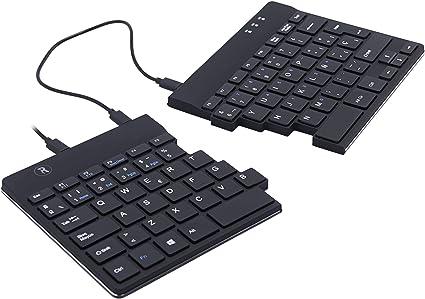 R-Go Split Teclado con Cable USB - Compacto Mini Teclado - Español QWERTY – Divisible - Delgado Teclado de computadora para Apple Mac, iMac, MacBook ...