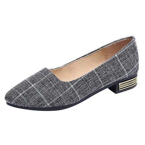 Tartán Mocasines Planos para Mujer, Zapatos Comodos Plataforma Cuña, Zapatillas Náuticos Adecuado para Oficina y Uso Diario: Amazon.es: Zapatos y ...