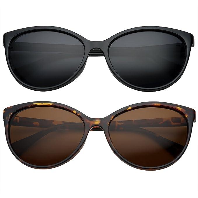 fb98694e5c Amazon.com: grinderPUNCH Women's Polarized Cateye Sunglasses Lentes ...