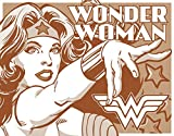 Wonder Woman Tin Metal Sign : Duotone , 16x13