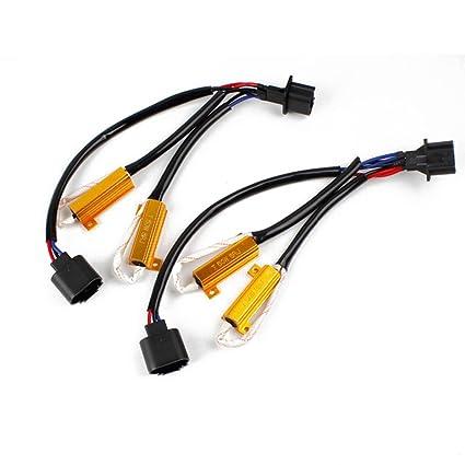 WINOMO coche faros Led CanBus libre de error de carga Resistencia decodificador de cable para H13