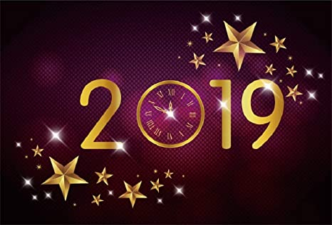 leyiyi 9x6ft 2019 happy new year backdrop vintage eve party clock fireworks bokeh halo banner luxury