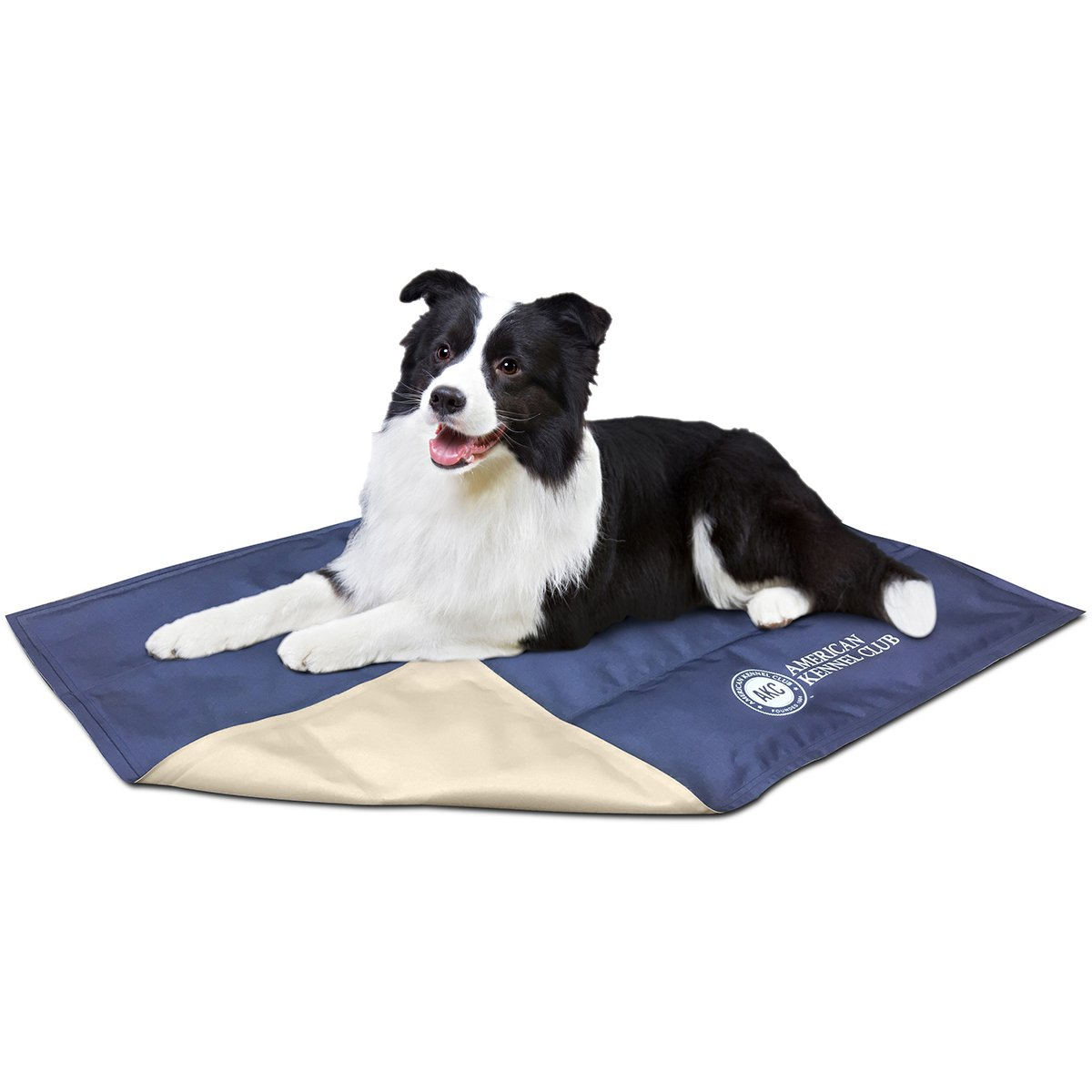 AKC625-blueE AKC625-blueE American Kennel Club Solid Reversible Cooling Mat 26 X20 -bluee
