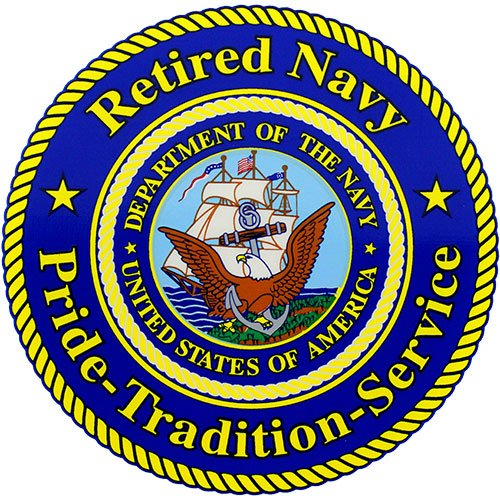 - Retired Navy Pride - Tradition - Service Clear Decal